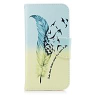 Недорогие Чехлы и кейсы для Galaxy A3(2016)-Кейс для Назначение SSamsung Galaxy A5(2017) A3(2017) Бумажник для карт Кошелек со стендом Флип Чехол  Перья Твердый Кожа PU для A3