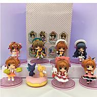 애니메이션 액션 피규어 에서 영감을 받다 카드캡쳐 사쿠라 Sakura Kinomodo PVC 7 CM 모델 완구 인형 장난감