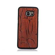 Для С узором Кейс для Задняя крышка Кейс для Геометрический рисунок Твердый Дерево для Samsung S7 edge S7