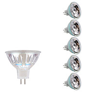 5W GU5.3(MR16) LED-spotlights MR16 1 lysdioder COB Varmvit Kallvit 380-400lm 3000/6500K DC 12 AC 12V