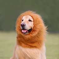 abordables Joyas & Accesorios del Perro-Gato Perro Disfraces Pelucas Ropa para Perro Cosplay León Animal Blanco Negro Marrón Claro Morrón Oscuro Disfraz Para mascotas