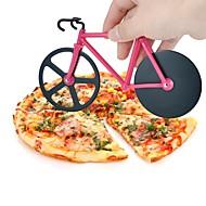 1 kpl Cutter & Slicer For for Pizza Muovi Ruostumaton teräs Korkealaatuinen Creative Kitchen Gadget