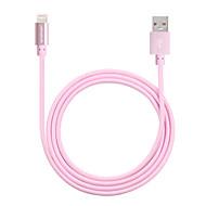 USBケーブルアルミプラグデータ同期にイエローナイフのMFI認定雷& iPhoneの6S / 6Sプラス用の充電ケーブル(100センチメートル)