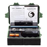 조명 LED손전등 손전등 키트 LED 3000 루멘 3 모드 Cree XM-L L2 14500 캠핑/등산/동굴탐험 일상용 야외 알루미늄 합금