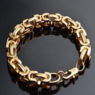 저렴한 -남성용 체인 & 링크 팔찌 패션 의상 보석 도금 골드 18K 금 Geometric Shape 보석류 제품 특별한 때 생일 크리스마스 선물