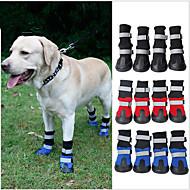 Кошка Собака Ботинки и сапоги Водонепроницаемый Цветовые блоки Черный Красный Синий