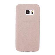 voordelige Hoesjes / covers voor Samsung-hoesje Voor Samsung Galaxy S7 edge S7 Mat Achterkantje Glitterglans Zacht TPU voor S7 edge S7 S6 edge plus S6 edge S6