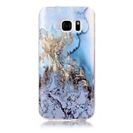 halpa Galaxy S4 kotelot / kuoret-Etui Käyttötarkoitus Apple S7 edge S7 IMD Takakuori Marble Pehmeä TPU varten S7 edge S7 S6 edge S6 S5 S4 S3
