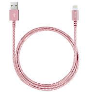 Benks MFI nylon trenzado ligthning cable con carga rápida 2.4a para el iphone 7 6s 6 Plus SE 5s 5c de aire 5 / iPad / iPad Pro 9.7