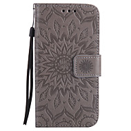 For Samsung Galaxy A5 A3 2017 PU Leather Material Sun Flower Pattern Embossed Phone Case A5 A3 2016