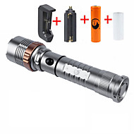 U'King LED Flashlights / Torch Flashlight Kits LED 2000 lm 5 Mode Cree XM-L T6 Adjustable Focus Zoomable for Camping/Hiking/Caving