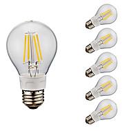 お買い得  -GMY® 6本 4W 400/500 lm E26 フィラメントタイプLED電球 A60(A19) 4 LEDの COB 温白色 クールホワイト 2700/6500 K AC 110-130 V