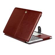 hesapli -macbook pro 15.4 13.3 yeni pro15.4 13.3 inç tablet lüks ultra ince manyetik folyo çılgın at desen deri çanta kapağı standı