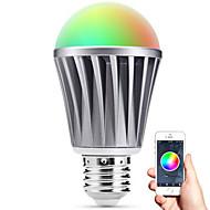 Недорогие Интеллектуальные огни-Smart LED лампа Е27 Bluetooth 4.0 RGBW светостойкость вода / затемняемый / времени / приложение дистанционного управления / спальным