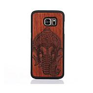 Etui Käyttötarkoitus Samsung Galaxy S7 edge S7 Kuvio Takakuori Elefantti Kova Puu varten S7 edge S7