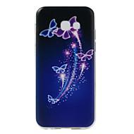 Недорогие Чехлы и кейсы для Galaxy A5(2017)-Кейс для Назначение SSamsung Galaxy С узором Кейс на заднюю панель Бабочка Мягкий ТПУ для A5 (2017)