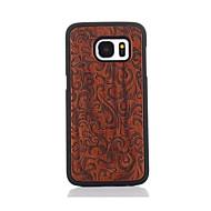 Для С узором Кейс для Задняя крышка Кейс для Цветы Твердый Дерево для Samsung S7 edge S7
