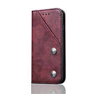 Назначение iPhone 8 iPhone 8 Plus Чехлы панели Бумажник для карт со стендом Флип Чехол Кейс для Сплошной цвет Твердый Натуральная кожа для