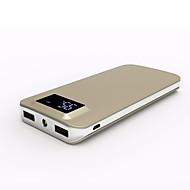 banco de la energía de la batería externa 5V #A Cargador de batería Linterna Multisalida QC 2.0 QC 3.0 Superslim LCD