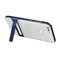 Недорогие Чехлы и кейсы для Huawei Honor-Кейс для Назначение Huawei со стендом / Прозрачный Кейс на заднюю панель Однотонный Твердый Силикон для P8 Lite (2017) / Honor 8 / Huawei