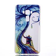 voordelige Mobiele telefoonhoesjes-hoesje Voor Asus Glow in the dark Mat Doorzichtig Patroon Achterkant Boom Zacht TPU voor Asus Zenfone 3 ZE520KL (5.2) Asus ZenFone 3