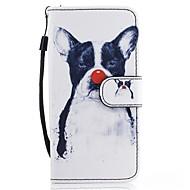 Кейс для Назначение SSamsung Galaxy A5(2017) A3(2017) Кошелек Бумажник для карт со стендом Флип С узором Чехол С собакой Твердый
