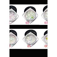 お買い得  ネイルセット-1 アートステッカーネイル グリッター素材 & パウダー メイクアップ化粧品 ネイルアートデザイン
