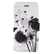 Недорогие Чехлы и кейсы для Galaxy А-Кейс для Назначение SSamsung Galaxy A5(2017) A3(2017) Бумажник для карт со стендом Флип С узором Чехол одуванчик Твердый Кожа PU для A3