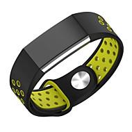 Недорогие Аксессуары для смарт часов-для Fitbit charge2 часов диапазона двойного цвет спорт силиконового ремешок дышащего отверстие для замены ремня