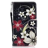Кейс для Назначение SSamsung Galaxy J5 (2016) J3 (2016) Бумажник для карт Кошелек со стендом Флип С узором Чехол Цветы Твердый