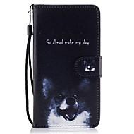 Недорогие Чехлы и кейсы для Galaxy J-Кейс для Назначение SSamsung Galaxy J5 (2016) J3 (2016) Бумажник для карт Кошелек со стендом Флип С узором Чехол С собакой Твердый Кожа PU