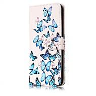 Назначение iPhone X iPhone 8 Чехлы панели Бумажник для карт Кошелек со стендом Флип С узором Магнитный Чехол Кейс для Бабочка Твердый