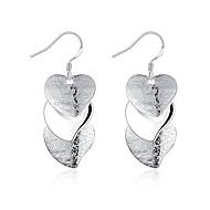 Dame Dråpeøreringer Smykker Enkelt design Hjerte Sølvplett Hjerte Formet Smykker Til Bryllup Fest Daglig Avslappet