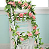 abordables Flores Artificiales-Flores Artificiales 1 Rama Estilo moderno Rosas Flor de Pared
