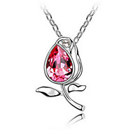 Жен. Ожерелья с подвесками Кристалл В форме цветка Цветочный дизайн Цветы Цветочный принт Мода Euramerican Простой стиль Бижутерия