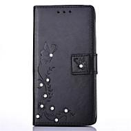 halpa Puhelimen kuoret-Varten Korttikotelo Paljetti Tuella Flip DIY Etui Kokonaan peittävä Etui Kukka Kova Tekonahka varten Huawei LG K10 LG K8 LG K7 LG K4 LG G5