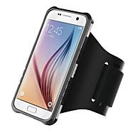 Недорогие Чехлы и кейсы для Galaxy S7 Edge-Кейс для Назначение SSamsung Galaxy S7 edge S7 Нарукавная повязка С ремешком на руку Сплошной цвет Твердый ПК для S7 edge S7