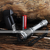 LED Flashlights / Torch Handheld Flashlights/Torch LED 2000 lm 5 Mode Cree XM-L T6 Adjustable Focus Waterproof Zoomable for