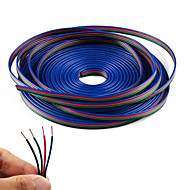 yol şerit RGB 5050 3528 kord 4pinli 4 renk 5m RGB uzatma kablosu hat