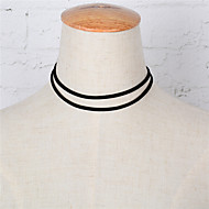 Недорогие $0.99 Модное ювелирное украшение-Жен. Ожерелья-бархатки - европейский, Простой стиль, Двойной слой Черный Ожерелье Назначение Для вечеринок, Повседневные, Спорт