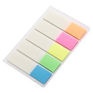 preiswerte Schreibwaren-fünf Arten von Farbe fluoreszierende transparente Folie labelcan wiederholt verwendet werden nicht einfach zu reißen