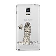Для Прозрачный С узором Кейс для Задняя крышка Кейс для Панорама города Мягкий TPU для Samsung Note 5 Note 4 Note 3 Note 2