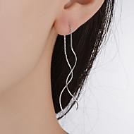 Tropfen-Ohrringe Schmuck Anhänger Stil Klassisch versilbert Aleación Geometrische Form Silber Schmuck FürHochzeit Party Besondere Anlässe