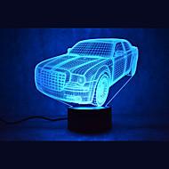 Χαμηλού Κόστους Πρωτότυπα φωτιστικά LED-1 τμχ 3D Nightlight USB Αισθητήρας / Με ροοστάτη / Αδιάβροχη LED / Μοντέρνο / Σύγχρονο