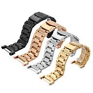 Suunto magját rozsdamentes acél watchband szilárd fém karóra karkötő szíj kettős biztosítás csat 24mm