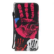 Недорогие Чехлы и кейсы для Galaxy J5(2017)-Кейс для Назначение SSamsung Galaxy J5 (2016) J3 (2016) Бумажник для карт Кошелек со стендом Кольца-держатели Флип С узором Чехол Черепа