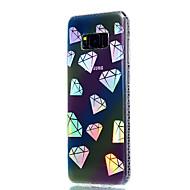 Кейс для Назначение SSamsung Galaxy S8 Plus S8 Покрытие Полупрозрачный С узором Задняя крышка Геометрический рисунок Мягкий TPU для S8 S8