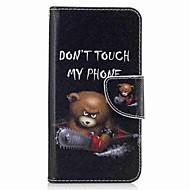 billige -Etui Til Samsung Galaxy Kortholder Lommebok med stativ Flipp Mønster Heldekkende etui Dyr Hard PU Leather til J5 Prime J3 Pro J3 Prime