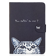 For Apple iPad Mini 4 3 2 1 Case Cover Cat Pattern Painted Card Stent Wallet PU Skin Material Flat Protective Shell