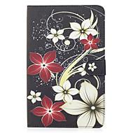 Für Samsung Galaxy Tab e 9.6 Fall Deckung Blumenmuster bemalte Karte Stent Brieftasche PU Haut Material flache Schutzhülle